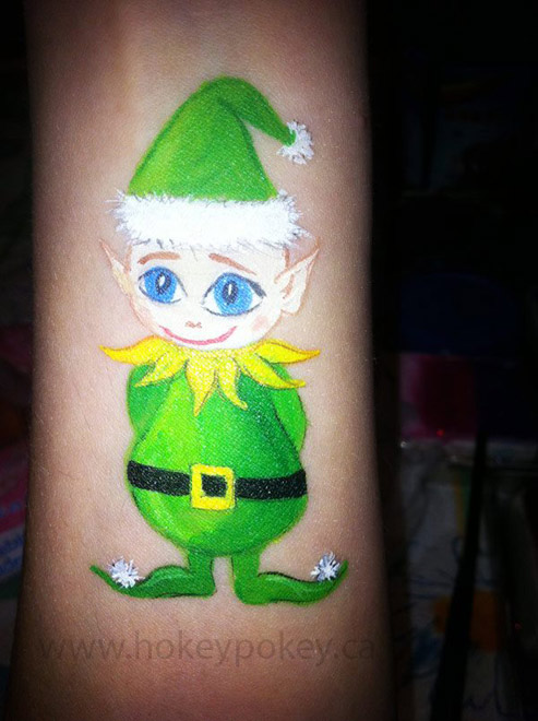 Christmas face paint image