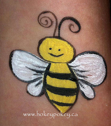 Little bumble bee great face painting idea for boys and girls