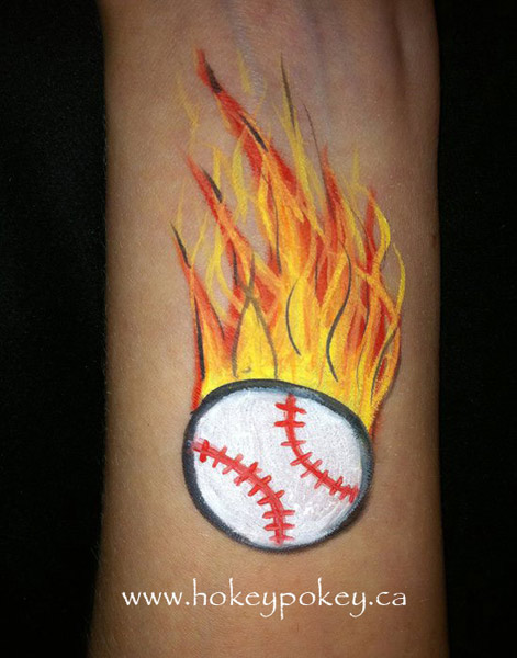Baseball face painting idea