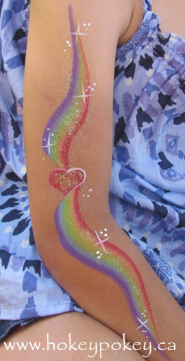 Face Paint rainbow design