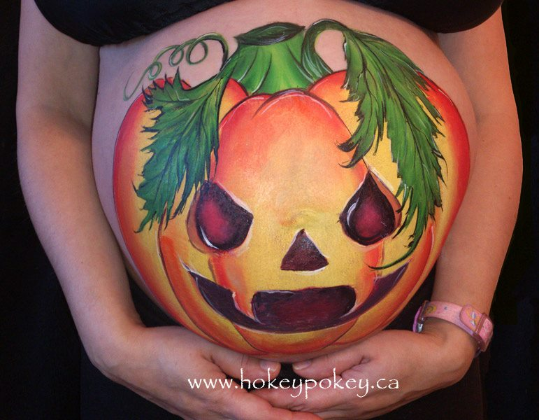 Pregnant Tummy Belly Bump - Halloween pregnant belly painting