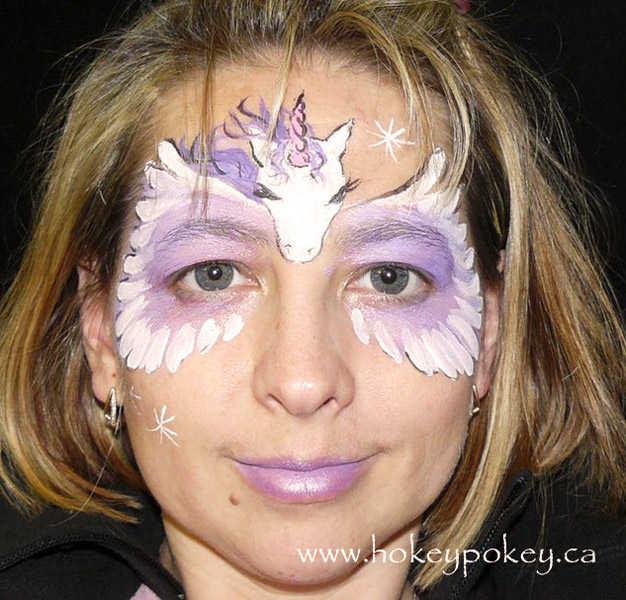Unicorn Face Painting Sample