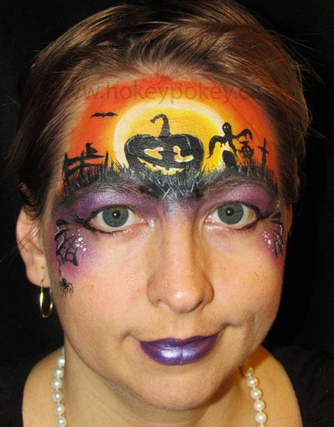 Cute Pumpkin face paint