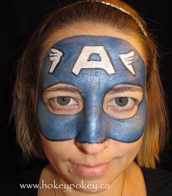 Face Paint Supperheroes - Captain America