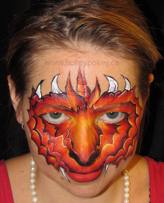 Dragon face painting idea