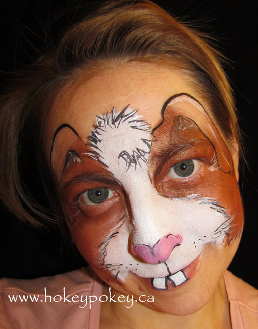 Face Painting Ideas - Easter Bunny Face Paint