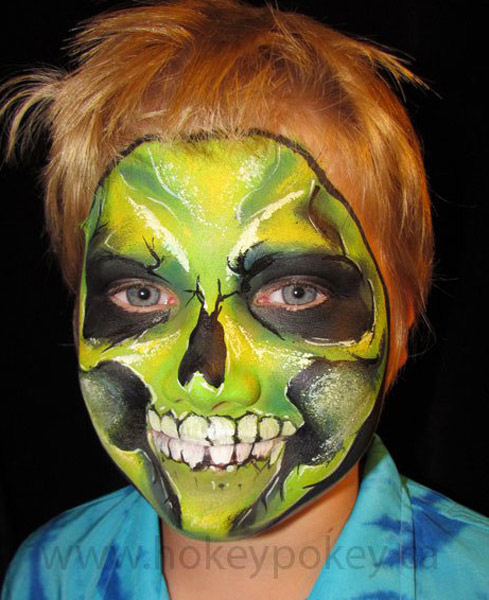 Halloween Face Painting Idea  Skull face painting