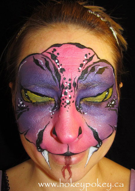 Face painting idea - snake