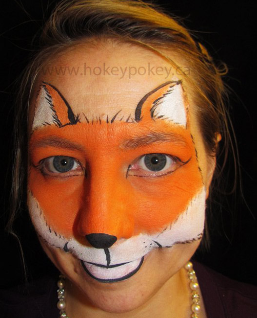 Gallery For gt Fox Face Paint Design