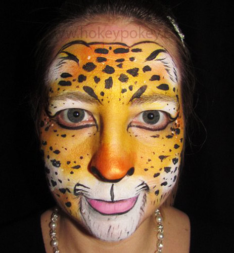 Face Painting Ideas - Cheetah