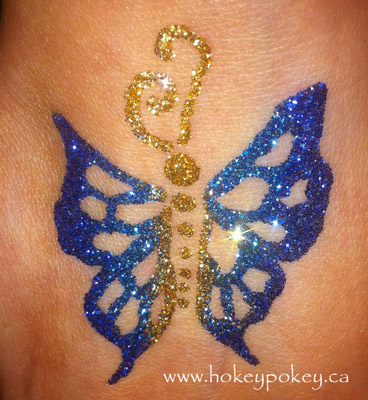Glitter tattoo party - Butterfly