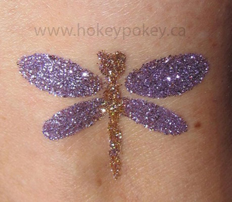 Glitter tattoo for kids and teens
