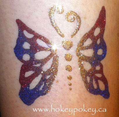 Butterfly Glitter Tattoo Image